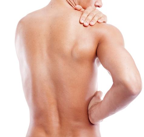 Rasierter Rücken eines Mannes